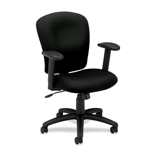 basyx by hon ergonomic mid back task chair black office chairs