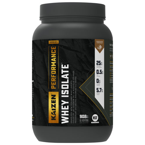 Kaizen Naturals Whey Isolate Protein Powder - 908g (2 lbs) - Chocolate