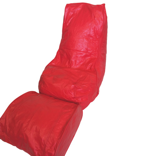 Modern Vinyl Bean Bag Lounger - Red