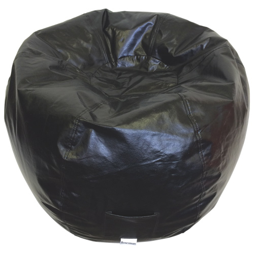Modern Vinyl Bean Bag Chair - Black (96013-009)