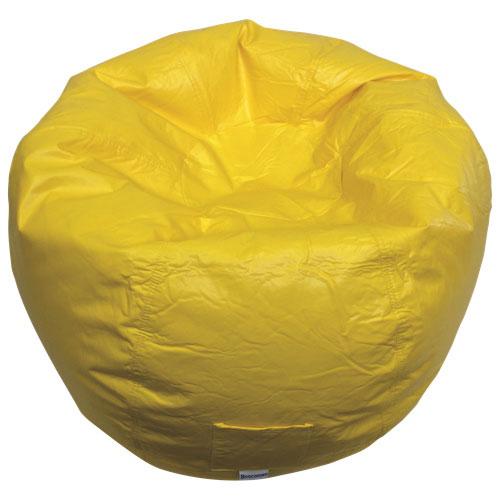 Modern Vinyl Bean Bag Chair - Yellow (96013-032)