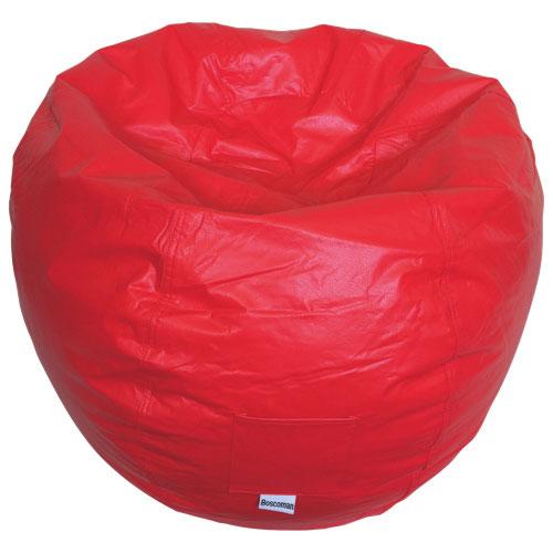 Modern Vinyl Bean Bag Chair - Red (96013-073)