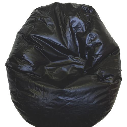 Modern Vinyl Bean Bag Chair Black 96060 009 Kids