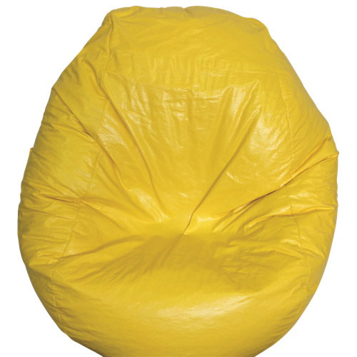 Modern Vinyl Bean Bag Chair - Yellow (96060-032)