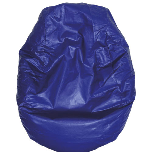 Modern Vinyl Bean Bag Chair - Blue (96060-081)
