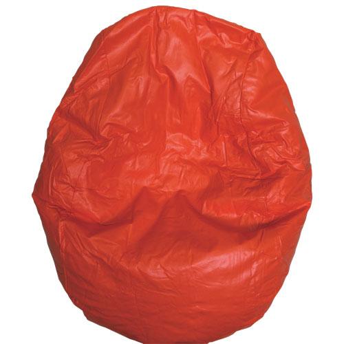 Fauteuil poire moderne en vinyle - Orange (96060-040)