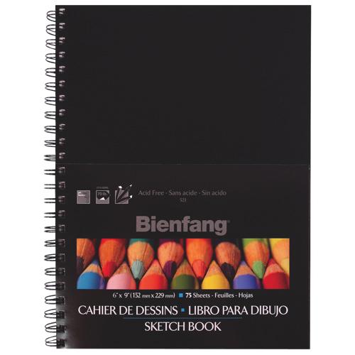 """Elmers Bienfang 6"""" x 9"""" Hardcover Sketchbook - 75 Sheets"""