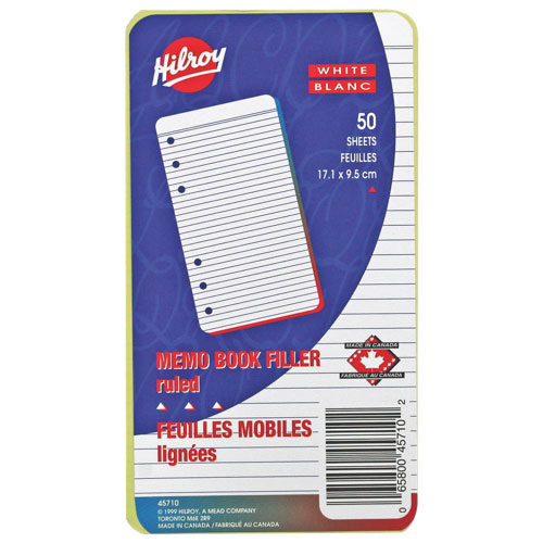 Recharges de bloc-notes de 6,75 x 3,75 po d'Hilroy - 50 pages