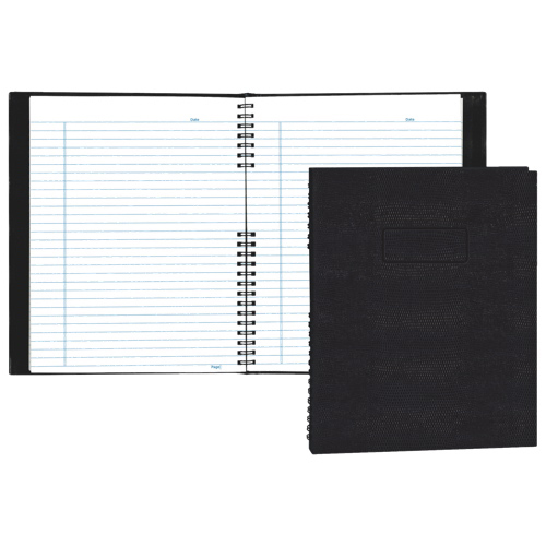 """Blueline NotePro 8.5"""" x 11"""" Lizard-Look Composition Book - 200 Pages - Black"""