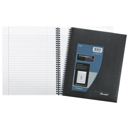 Hilroy Cambridge Limited Business Notebook - 80 Pages - Black