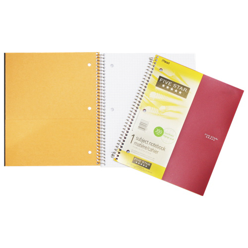 "Hilroy 8.5"" x 11"" Ruled Subject Notebook - 100 Sheets"