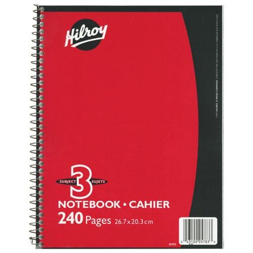 Cahier de notes 3 sujets de Hilroy (HLR05783) - Rouge
