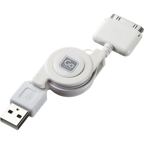 Go Travel 70cm (27.5 in.) Retractable 30-Pin/USB Cable