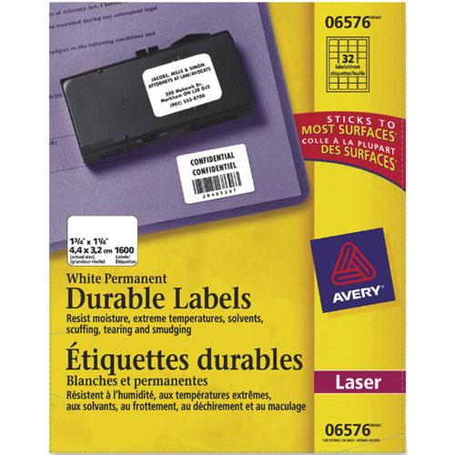 Étiquettes laser permanentes d'Avery - Paquet de 1600