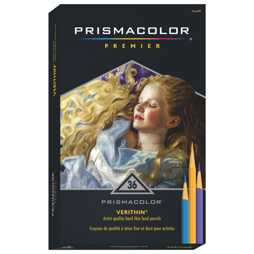Prismacolor Verithin Coloured Pencils - 36 Pack - Assorted Colours