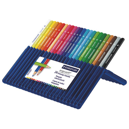 STAEDTLER Ergosoft Coloured Pencils - 24 Pack