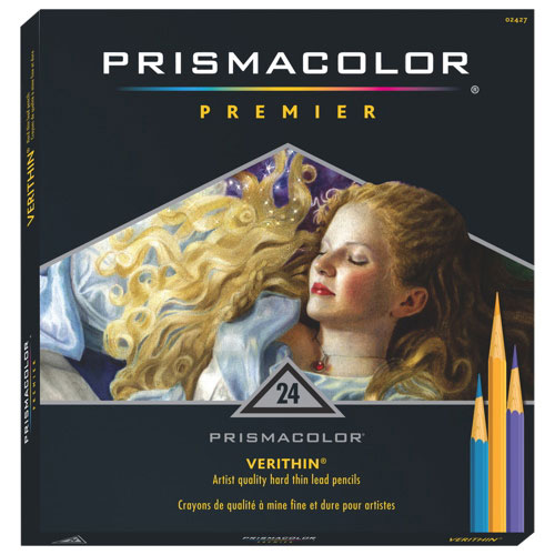 Prismacolor Verithin Coloured Pencil - 24 Pack - Assorted Colours