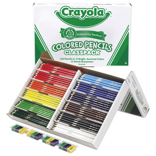 Crayola 3.3mm Colored Pencils - 240 Pack - Assorted Colours