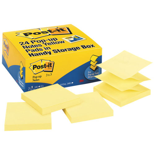 Post-It Notes Pop-Up Sticky Note Pad Refill - 24 Pack - Yellow