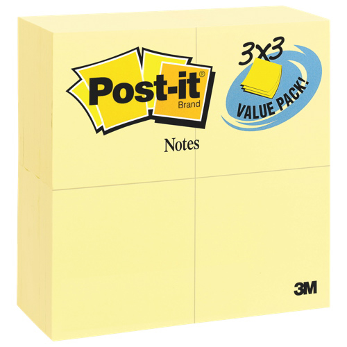 Bloc de feuillets Post-it - Paquet prime de 24 - Jaune canari