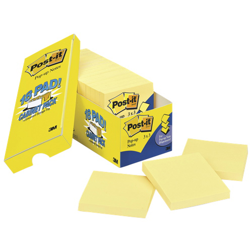 Post-It Notes Pop-Up Sticky Note Pad Refill - 18 Pack - Canary Yellow