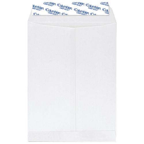 "MeadWestvaco Grip-Seal 10"" x 13"" Self-Sealing Catalog Envelopes - 100 Pack - White"