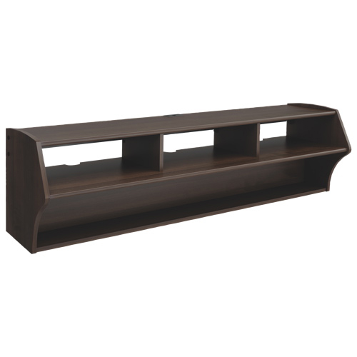 "Prepac Altus Plus 60"" Wall-Mount TV Stand - Espresso"