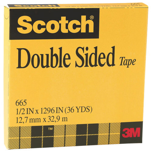 Ruban double face et de montage Scotch de 3M (MMM66512M33)