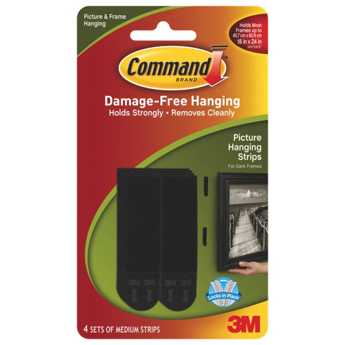 3m Command Medium Picture Hanging Strips Mmm17201blkc Specialty