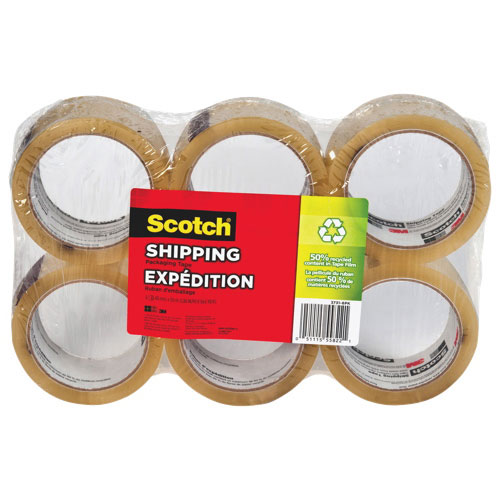 Scotch Packaging & Hardware Tape 6-Pack (MMM37316PK)
