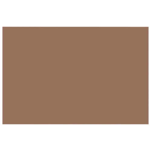 "Nature Saver 12"" x 18"" Heavyweight Construction Paper - 50 Pack - Brown"