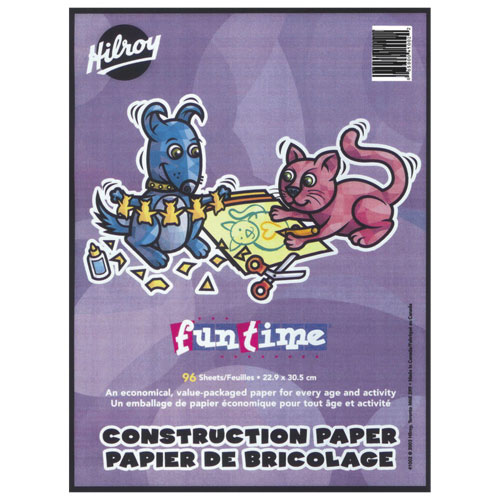 "Hilroy Fun Time 9"" x 12"" Lightweight Construction Paper Pad - 96 Sheets - Rocket Red"