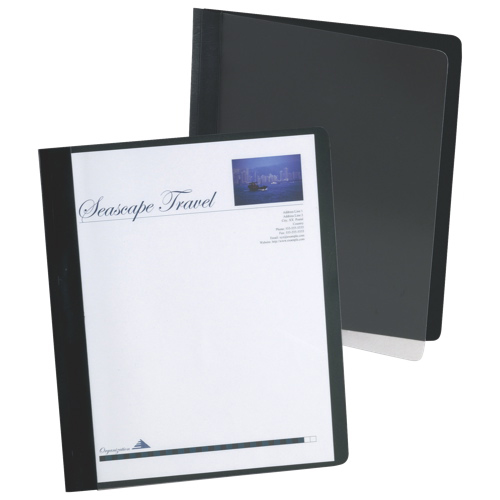 Esselte Extra-Wide Report Cover (ESS5354005XC) - Letter - 25 Pack - Black
