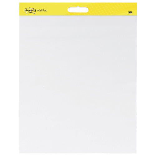 """Post-It 20"""" x 23"""" Self-Stick Wall Easel Pad - 20 Sheets - White"""