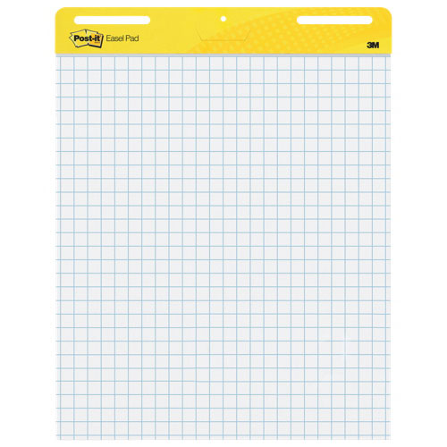 "Post-It 25"" x 30"" Self-Stick Easel Pad - 30 Sheets - White"