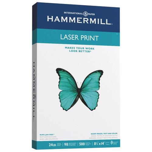 Papier pour imprimante laser de 8,5 x 14 po de Hammermill - Paquet de 500 (HAM104604) - Blanc