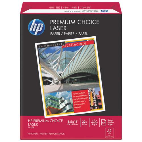 Papier au format lettre Premium Choice de HP pour imprimante laser - Paquet de 500 feuilles