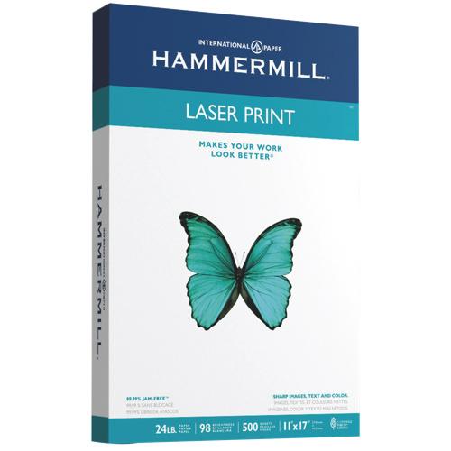 Papier format registre laser de Hammermill - Rame de 500