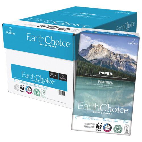 Papier de photocopie format ministre EarthChoice de Domtar - Boîte de 10 paquets