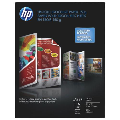 Papier format lettre pour brochures à 3 pans de HP - Paquet de 150 feuilles