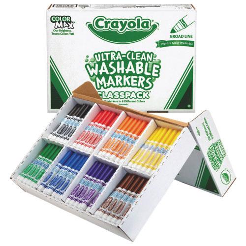 Ensemble de marqueurs lavables Classpack de Crayola - Paquet de 200