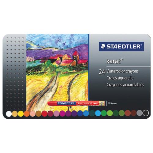 Craies aquarelles Karat de Staedtler - Paquet de 24 - Couleurs assorties