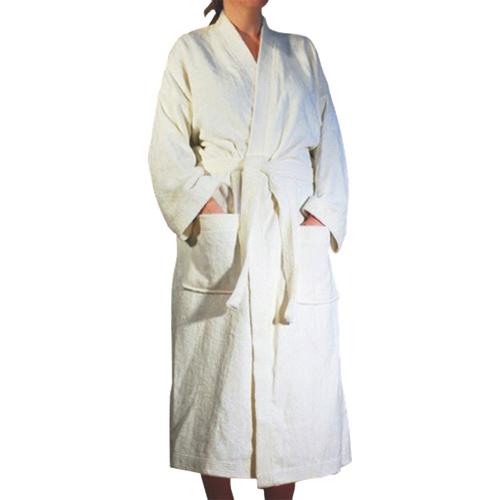 Robe de chambre en bambou de Shoo-Foo - Moyen - Crème naturelle
