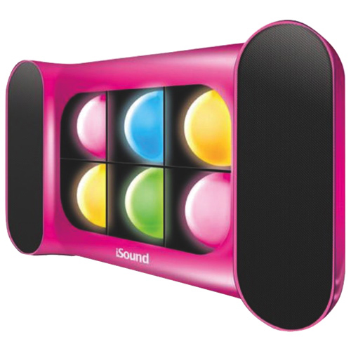 dreamGEAR iGlowSound Pro Bluetooth Wireless Speaker - Pink/Colour Changing