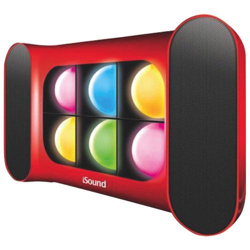 Haut-parleur sans fil Bluetooth iGlowSound Pro de dreamGEAR - Rouge - Multicolore