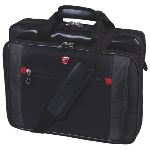"Swiss Gear 15.6"" Laptop Brief (SWA0586) - Black"