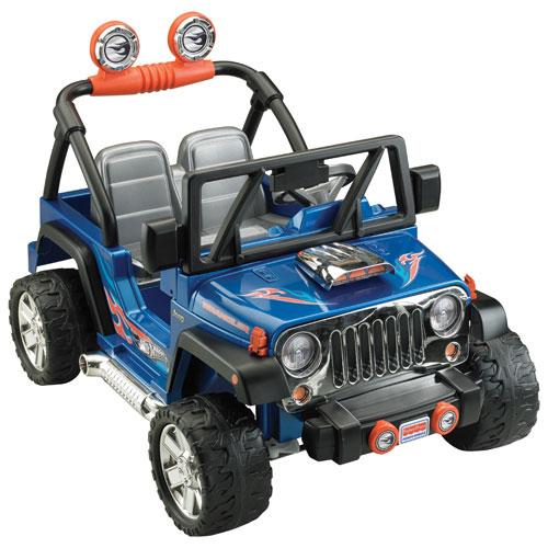 power wheels hot wheels jeep wrangler cbg61 blue. Black Bedroom Furniture Sets. Home Design Ideas