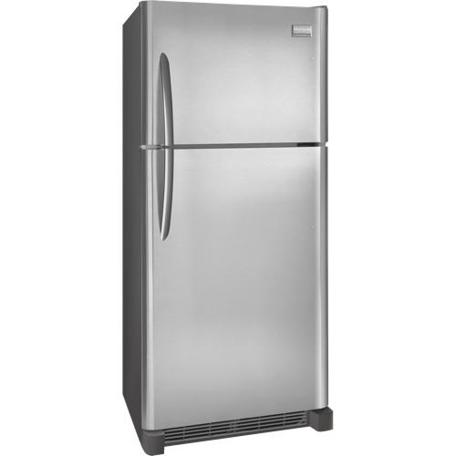 """Frigidaire 30"""" 18 Cu. Ft. Top Mount Refrigerator (FGTR1845QF) - Smudge Proof Stainless Steel"""