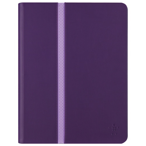 "Belkin Stripe iPad Air 1/2 & iPad 9.7"" 2017/2018 Folio Case (F7N252B1C01) - Plum"
