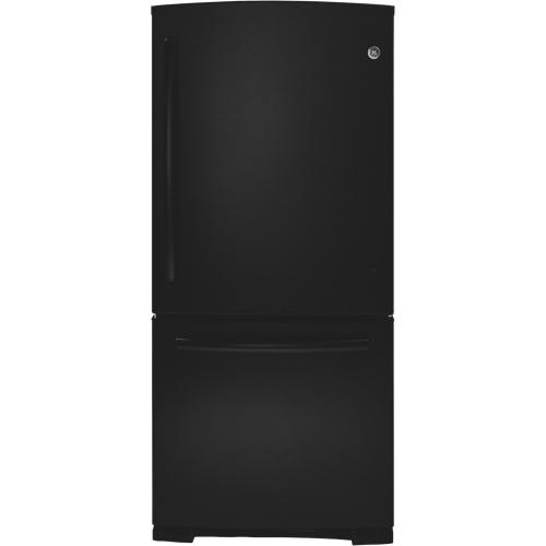 """GE 30"""" 20.2 Cu. Ft. Bottom Mount Refrigerator (PDR20KGERBB) - Black"""